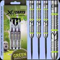 MVG Michael Van Gerwen Latest 70% Tungsten Green Demolisher Darts by QX Max