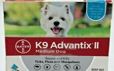 Bayer K9 Advantix Ii Flea, Tick and Mosquito Prevention. Medium Dog 2 Doses