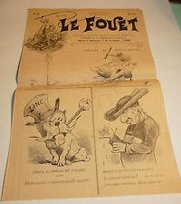 1896 n°9 ancien journal de Beziers le fouet caricature politique tres rare