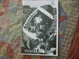 1969 UNLV FOOTBALL MEDIA GUIDE Yearbook Press Book Program College REPRO AD