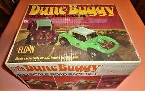 1968 JC Penney Exc ELDON DUNE BUGGY 1/32 SCALE SLOT CAR RACE SET w/ BOX + Parts