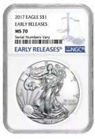 2017 Silver American Eagle 1 oz - NGC MS70 Early Releases