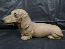Sandicast  Sandra Brue  Dog  Sculpture  1983  Dachshund Red  -  Signed