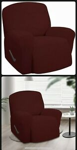 New~Easy Going Stretch Oversized Recliner Slipcover/Cover~Textured Jacquard~Wine