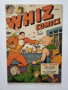 WHIZ COMICS #72 (FVF) 1946 CAPTAIN MARVEL SPY SMASHER APPEARANCE; SIGNED by BECK