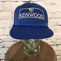 Kenwood Vtg Blue Snapback Trucker Hat Mesh Back Cap