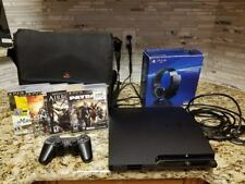 Playstation3 PS3 game console w/ 1 controller,4 games & wireless stereo headset