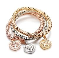Tree Of Life Heart Edition Charm Bracelet With Austrian Crystals For Women Gifts