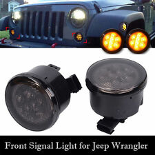 2x Front Grill LED Turning Signal Lights Indicator For Jeep Wrangler JK 07-16