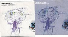 RADIOHEAD CD Paranoid Android CD1 +  CD2 Card Sleeves Pearly Melatonin Reminder