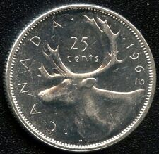 1962 Canada 25 Cent Coin ( 5.83 Grams .800 Silver )