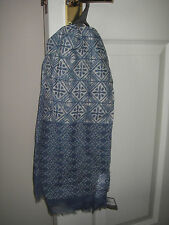 BHS W BLUE TWO PATTERNED POLYESTER SCARF/PASHMINA BNWT RRP £12 GREAT PRESENT