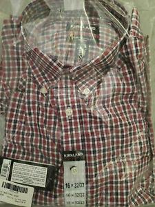 Kirkland Signature 100%Cotton Traditional Fit Non-Iron Dress Shirt