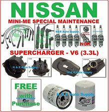 01-04 FRONTIER XTERRA (SUPERCHARGER - V6) TUNE UP KITS : WIRE SET, CAP & ROTOR