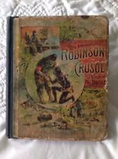 1892 Life & Adventures Of Robinson Crusoe In Words Of One Syllable M. Godolphin