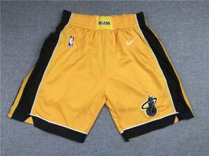 New Miami Heat Yellow Basketball Shorts Size: S-XXL