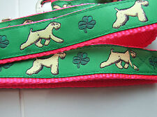SOFT COATED WHEATEN TERRIER DESIGN BREED DOG COLLARS or MARTINGALES or LEADS