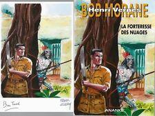EO BRICE TARVEL BOB MORANE HC 36 + DESSIN ORIGINAL : LA FORTERESSE DES NUAGES