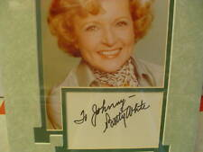 Betty White Autograph Matted w/photo Major TV Star Vintage Hollywood, Betty