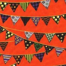 PUMPKIN PARTY BUNTING HALLOWEEN FABRIC