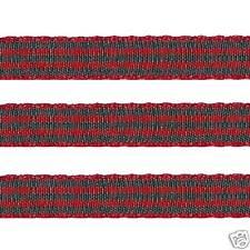 "5 yards 3/8"" CHRISTMAS RED HUNTER GREEN Scottish Checkered Check Gingham Ribbon"