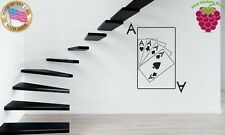 Wall Stickers Vinyl Decal Poker Gambling Four Aces Card Stack ig913