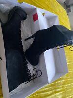 Aldo Tie Up Boots Women Size 8.5