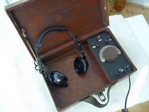 CRYSTAL  RADIO  SET  .....and    HEADPHONES...................