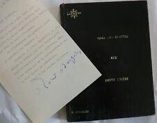 Roland Dorgelès. Signature. Lettre Autographe + Beauté aux Dents Limées 1930.