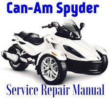 BEST 2013 Can-Am Spyder RT RT-S RT Limited Service Repair Manual PARTS WIRING CD