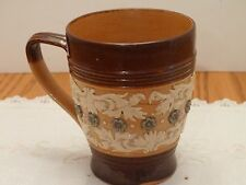 Royal Doulton England Art Nouveau Stoneware Mug Cup High relief pattern