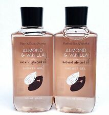 2 Bath & Body Works ALMOND & VANILLA w/ Natural Almond Oil Body Wash Shower Gel