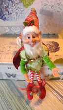 "Bright Green Elf Charming Whimsical 17"" Sprite Gnome Pixie Imp  Fairytale"