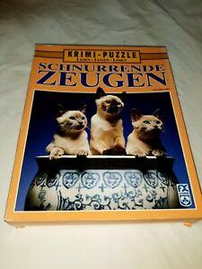 500 Pieces Crime Puzzle - Schnurrende Zeugen - From John Lutz - FX SCHMID