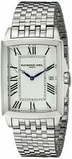 Raymond Weil Tradition Men's White Dial Stainless Steel Watch 5597-ST-00300 NEW