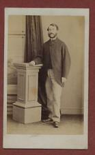 Scarborough.  chequered trousers.  Gentleman Victorian    CDV photograph db69