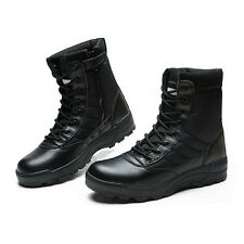 Mens Army Tactical Comfort Leather Combat Military Ankle Boots Work Desert Shoes