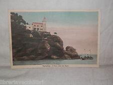 Vecchia cartolina foto d epoca di Portofino il faro visto dal mare veduta scorci