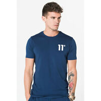 11 Degrees Mens Core T-Shirt Crew Neck Navy
