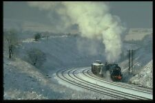 182049 8F No 48442 Rounds The Curve At Buxworth Derbyshire A4 Photo Print