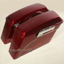 Red Hard Saddle bags Saddlebags For Harley Davidson Sportster Dyna Touring Glide