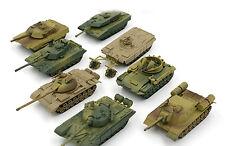 8pcs/set Plastic 4D Model Kit Tank Assembling Tanks 1:72 Scale Series