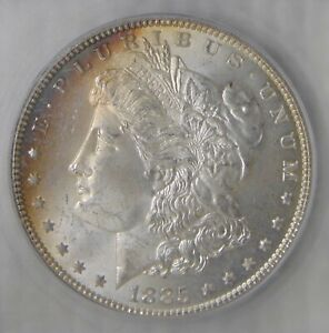 MS64 ~ 1885 Morgan Silver Dollar, NICE ECLIPSE TONING!