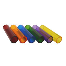 TRANSPARENT TINTED COLOUR PERSPEX TUBE RED, GREEN, BLUE, YELLOW, PURPLE & AMBER