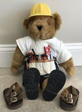 VERMONT TEDDY BEAR Stuffed Animal Jointed Construction Carpenter Plumber