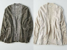 NWT American Eagle Open Cardigan Sweater Olive or Oatmeal S, M, L,XXL