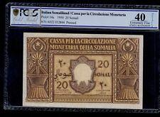 ITALIAN SOMALILAND   20 SOMALI  1950  PICK # 14a PCGS 40 EXTREMELY FINE.