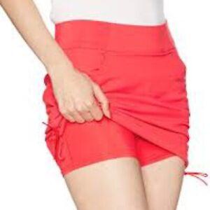 Columbia Women's size M Light Hiking Red Anytime Trail Shorts Skort Skirt k