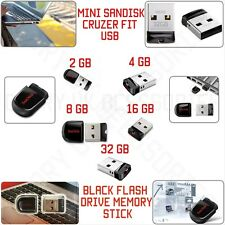 8 GB SanDisk Cruzer FIT USB 2.0 Flash Drive Memory Stick Black 24Hrs