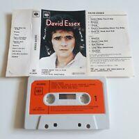 DAVID ESSEX S/T SELF TITLED ALBUM CASSETTE TAPE 1974 ORANGE PAPER LABEL CBS UK